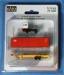 Kato 31-620 N Scale Volvo Yard Tractor+Trailer+ 40' Container